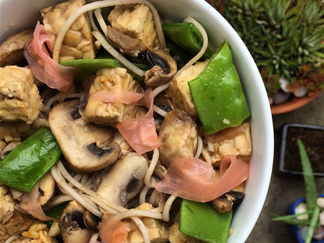 Easy tempeh & soba noodle salad