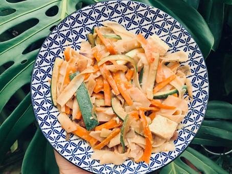 Satay Rice Noodles & Tempeh