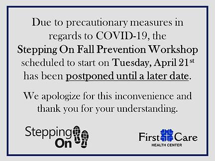 Stepping On Postponed FB.jpg