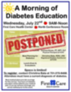 Postponed A Morning of Diabetes Educatio