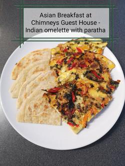 Indian triple egg omelette