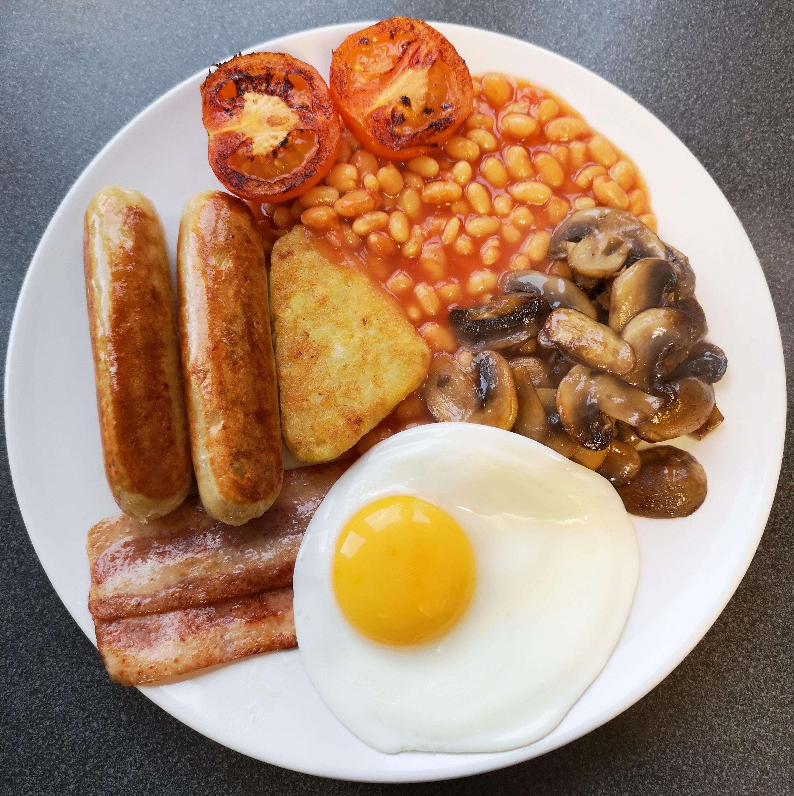 English breakfast - sunny side egg