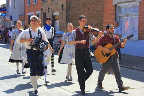 Les musiciens de la troupe de spectacle, Québec