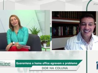 Pesquisa aponta aumento de dor nas costas durante pandemia │ Dr. Antônio Krieger na TV Meio Norte