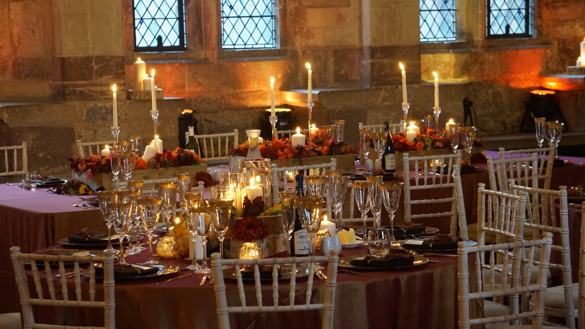 berkeley castle wedding autumn theme
