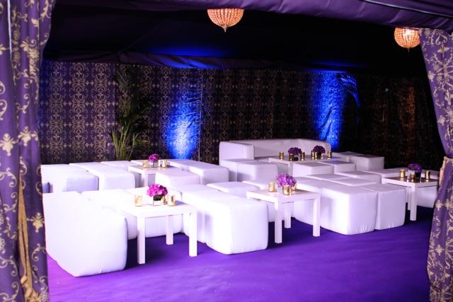 50th birthday party white furniture