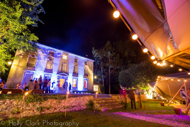 21st birthday party house uplighting