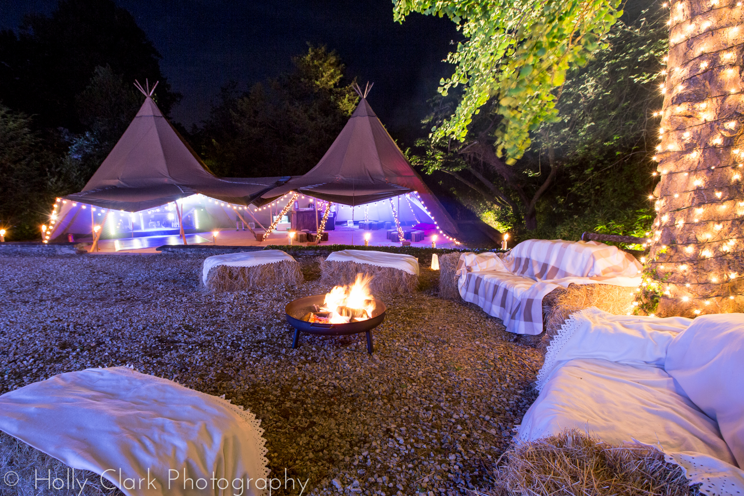 21st birthday party tipi fire