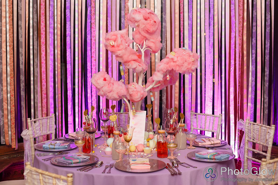 bar mitzvah candy floss tree sweets