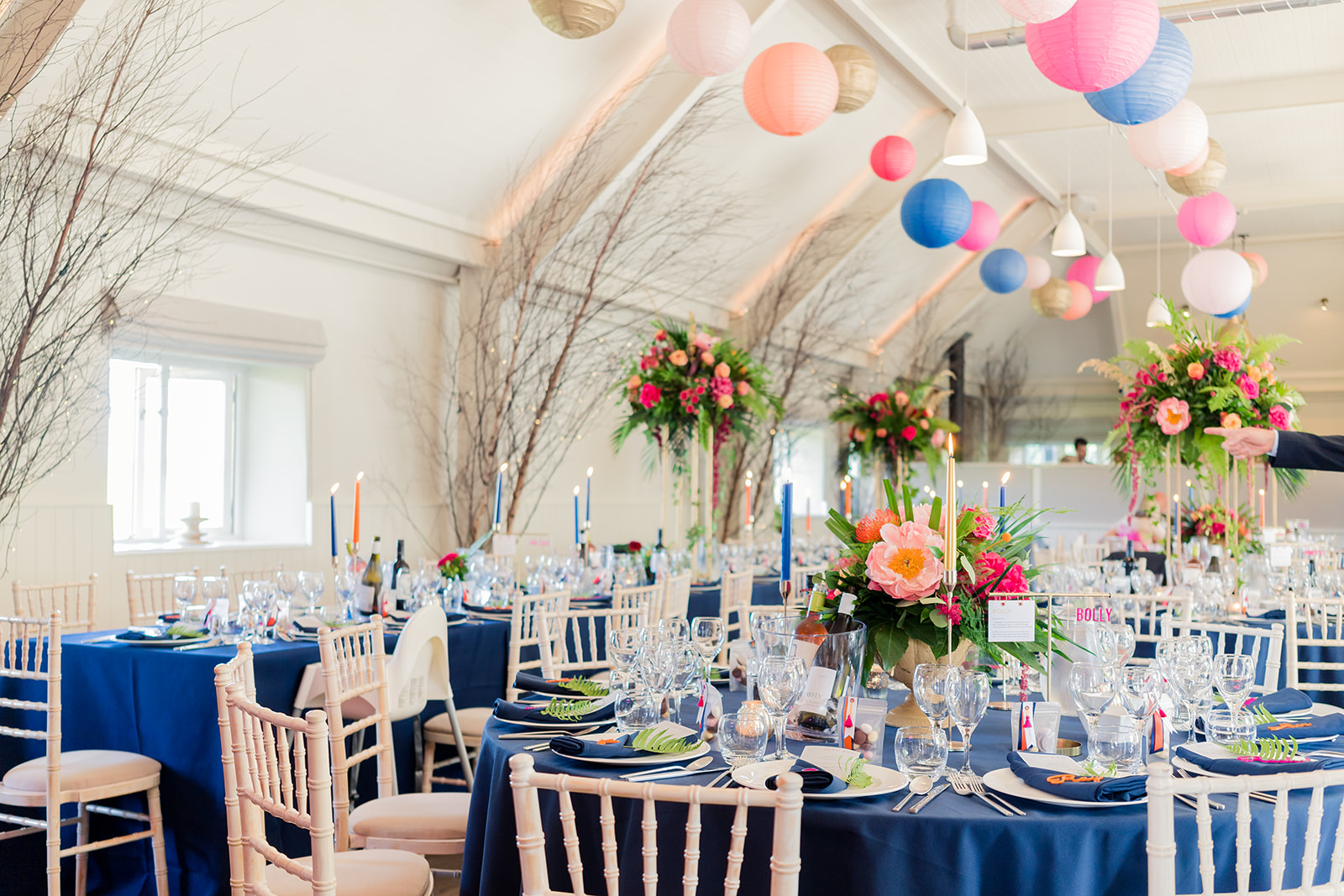 Bright colourful wedding lapstone