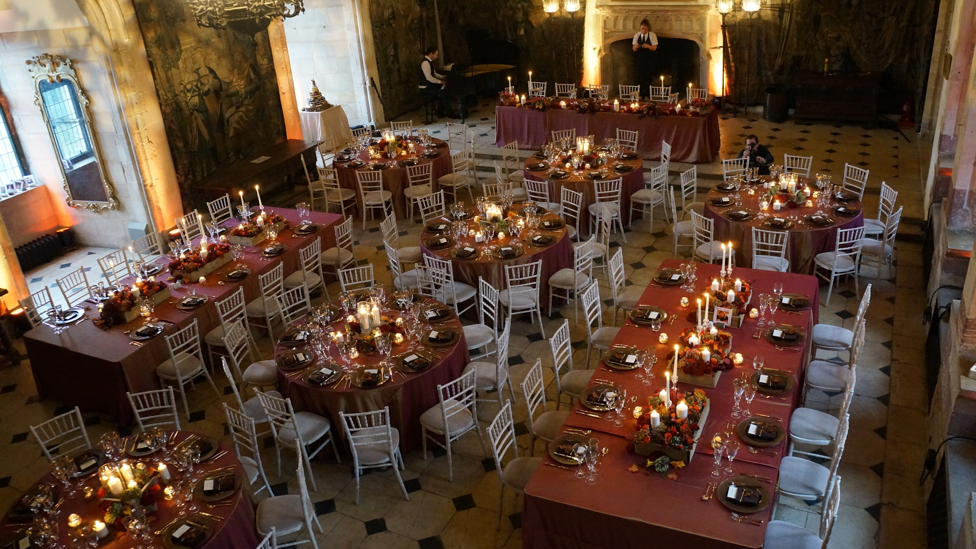 berkeley castle autumn theme wedding