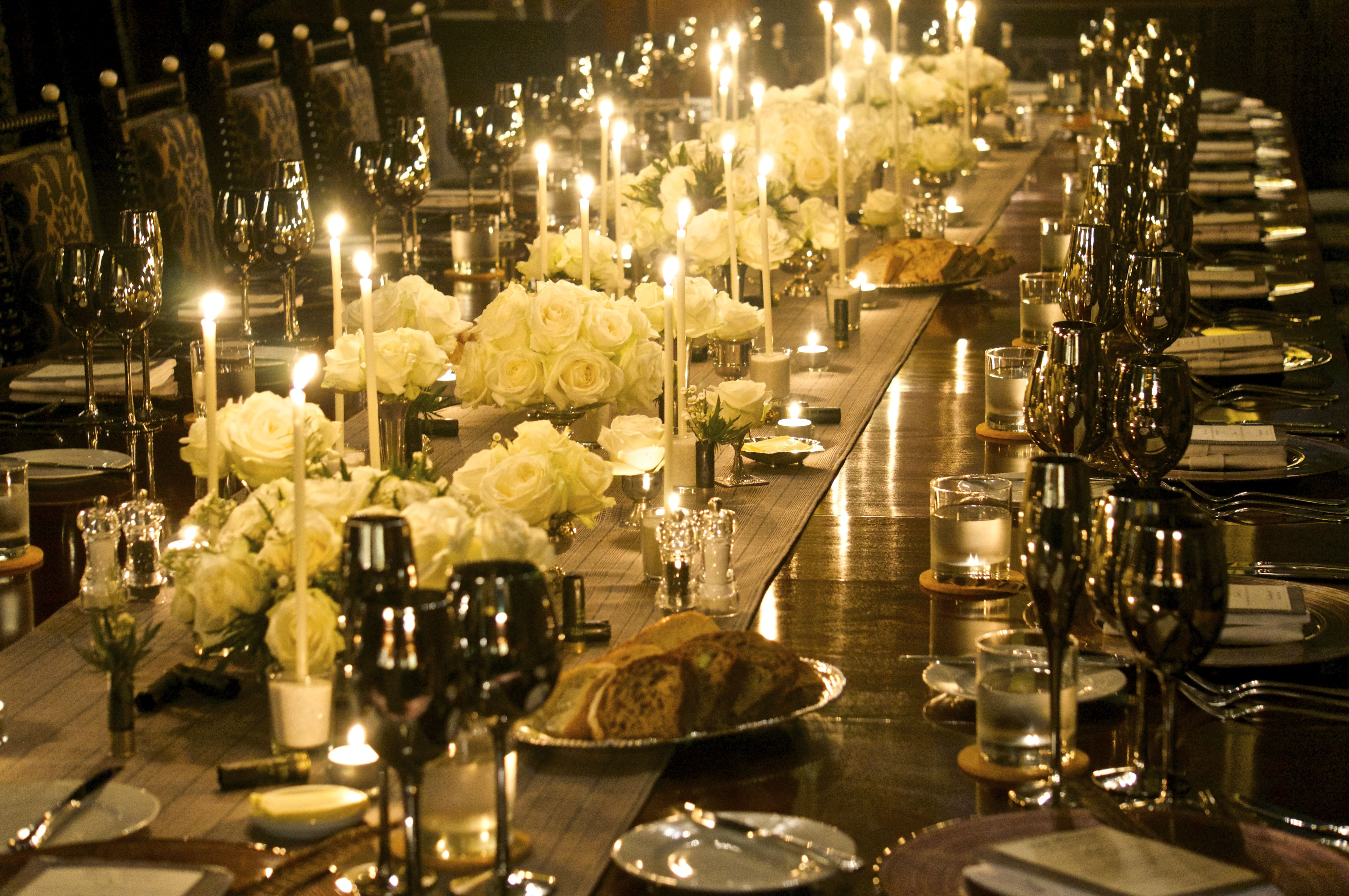 Eastnor Castle wedding long table