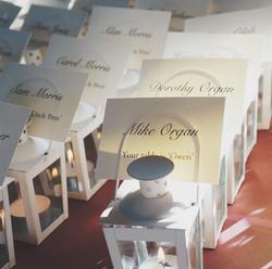 mini lantern escort card weddings