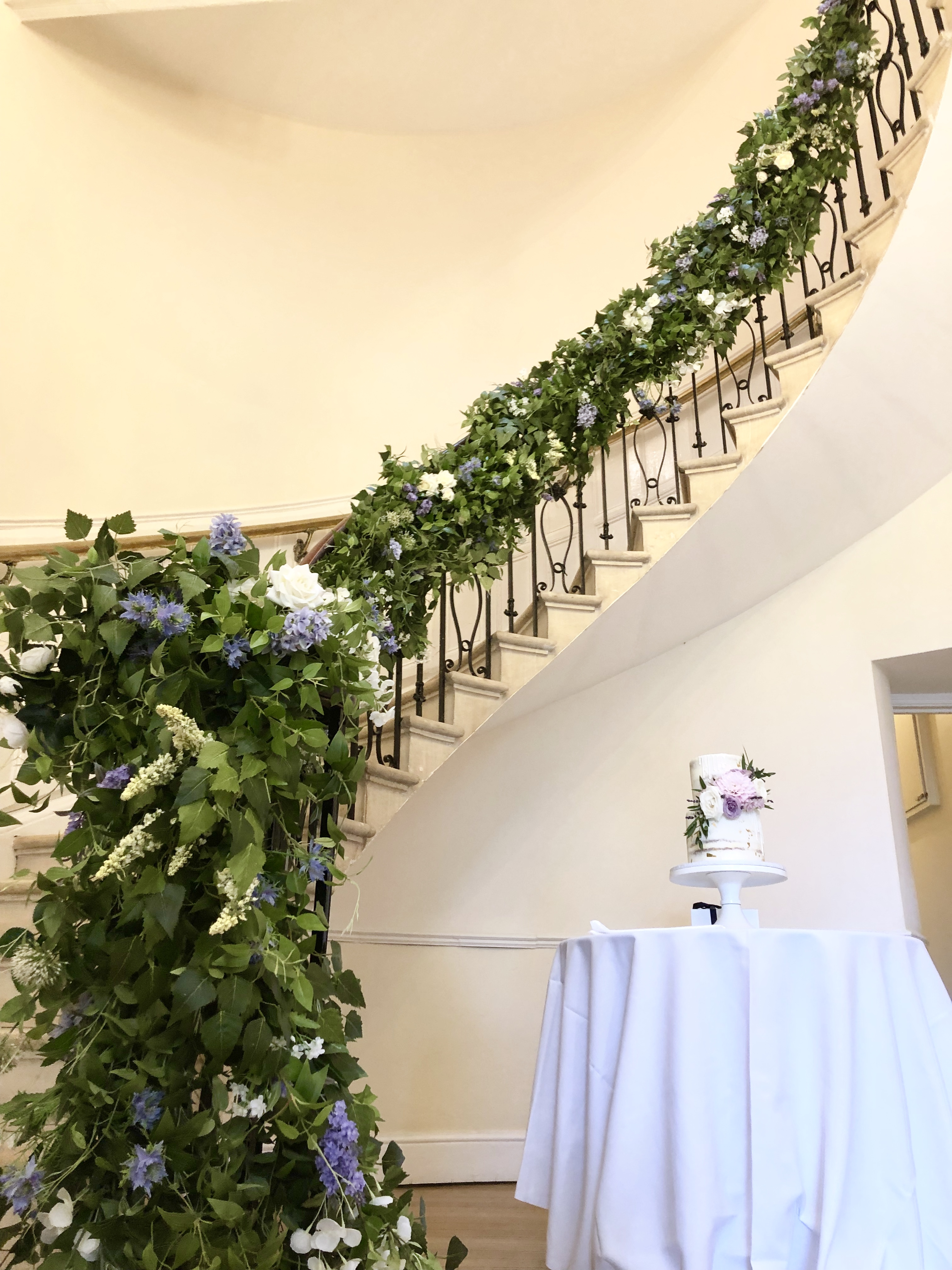 Eastington park staircase garland