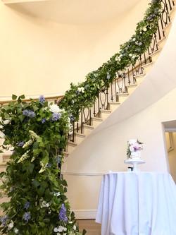 Eastington park staircase garland