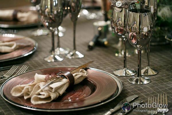 hunter theme tweed tablecloth