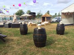 festival styling backstage barrels