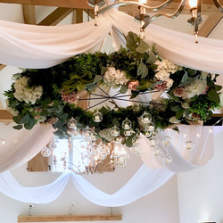 Hyde House floral chandelier
