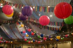 ICC fiesta themed bunting installati