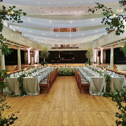 St Georges hall wedding draping