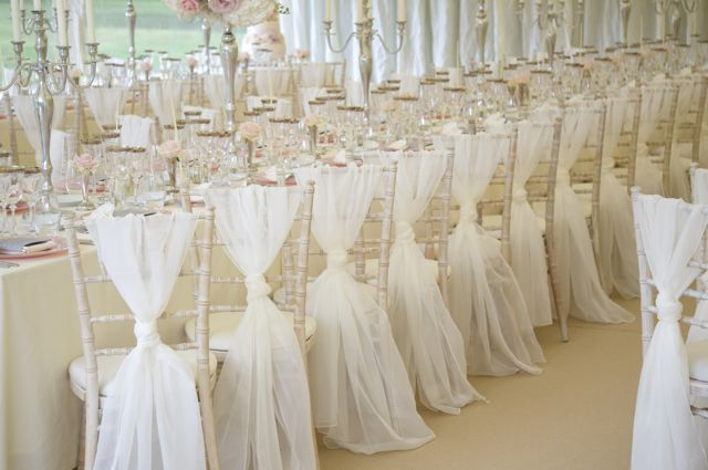 voile sash wedding marquee