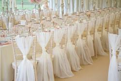 voile sash wedding marquee