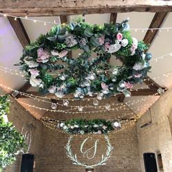 Floral chandelier monogram