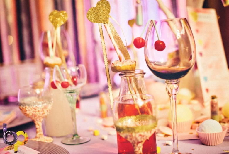 bar mitzvah sweet theme table decor