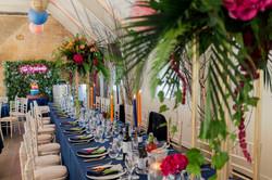 Tropical theme wedding design