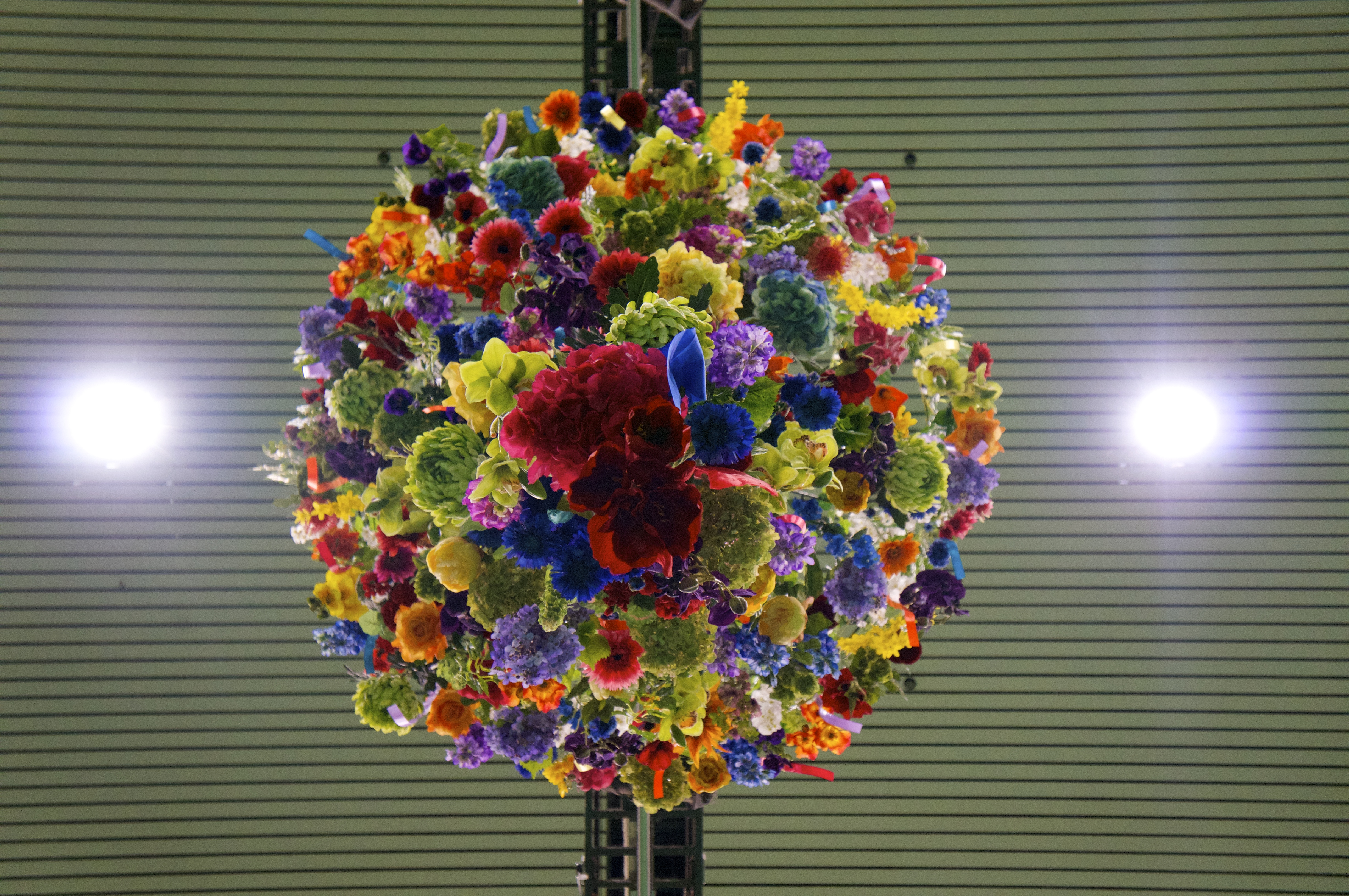 MK shopping giant floral chandelier