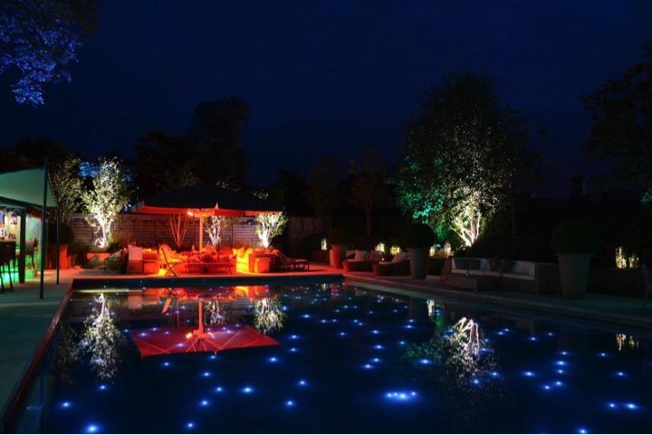 birthday party pool lights