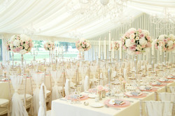 luxury marquee wedding candelabra