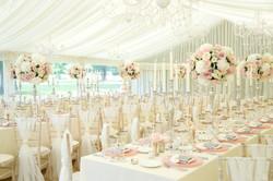 luxury marquee wedding candelabra