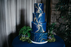 Vanilla Pod wedding cake blue
