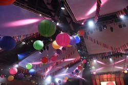 ICC corporate event hanging lanterns
