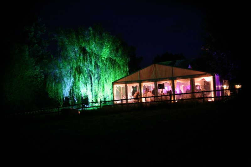 marquee lighting anniversary party