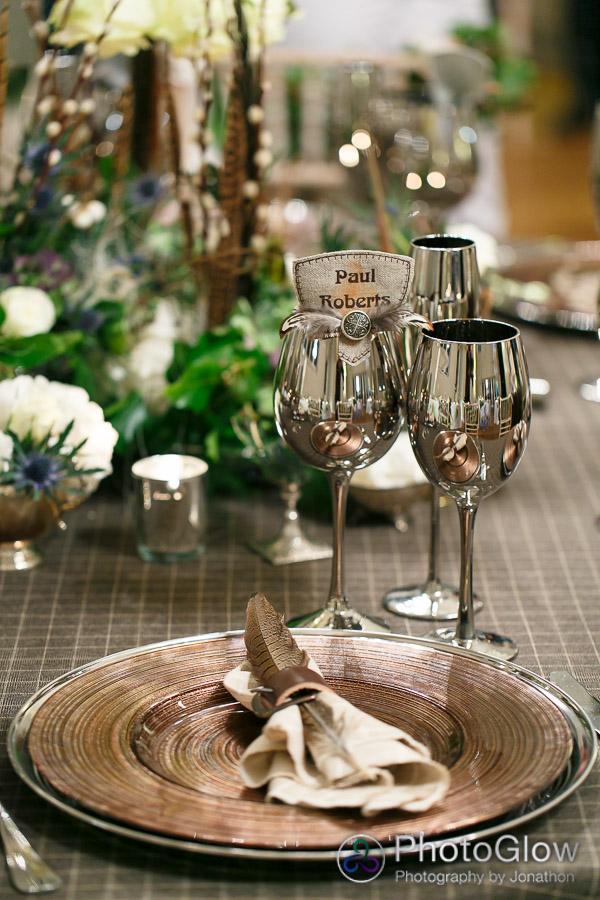 tweed tablecloth hunter theme