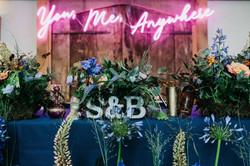 gay wedding neon sign top table