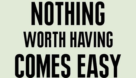 It's never about free good luck: it's always about paid hard work.