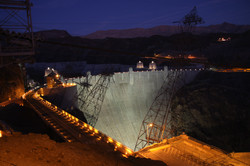 Hoover Dam at dusk