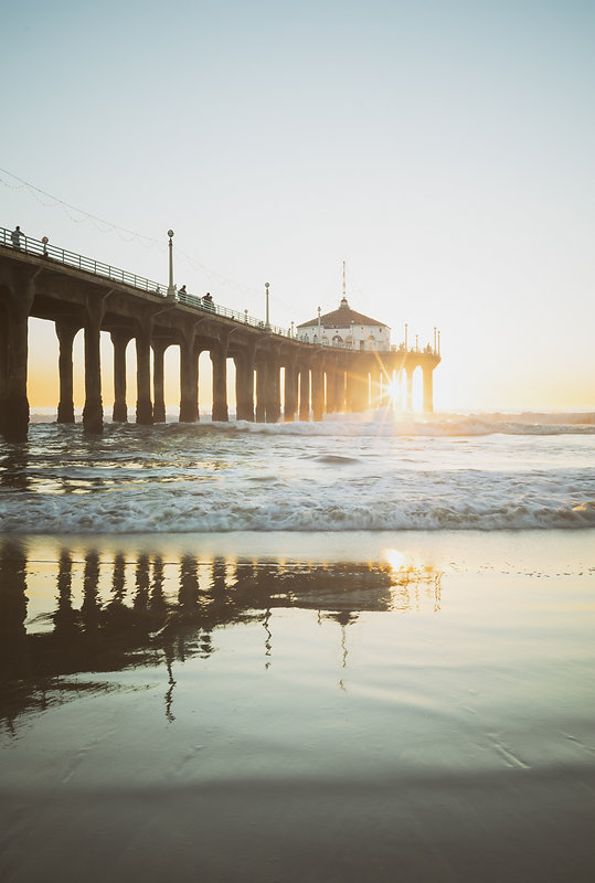 Manhattan Beach Pier California Sunset U