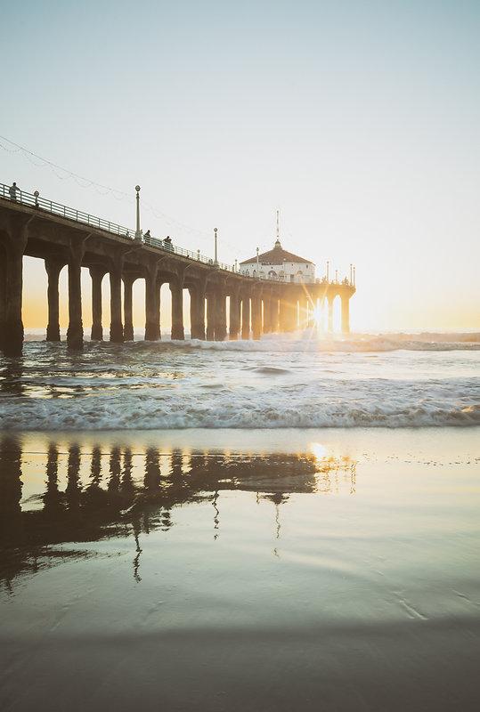 Manhattan Beach Pier California Sunset U