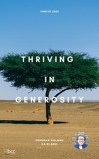 24.01.21 Thriving in generosity - Debora