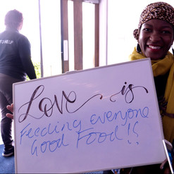 Love is feeding everyone good food!
