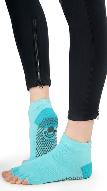 Half Toe Grip Motion Socks (Blue - Covered)