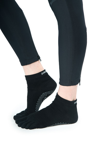 Full Toe Grip Motion Socks (Black - Covered)