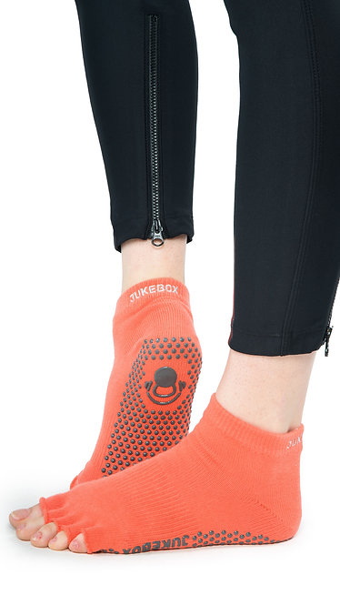 Half Toe Grip Motion Socks (Orange - Covered)