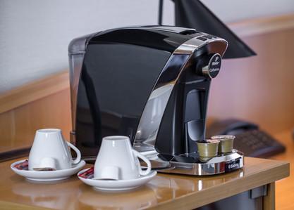Eigene Kaffeemaschine auf dem Zimmer