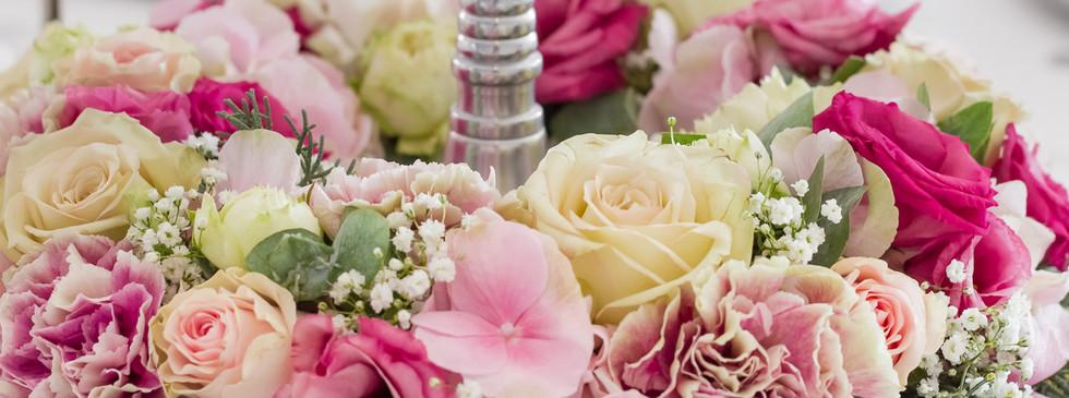 Bankettsaal Blumendeko