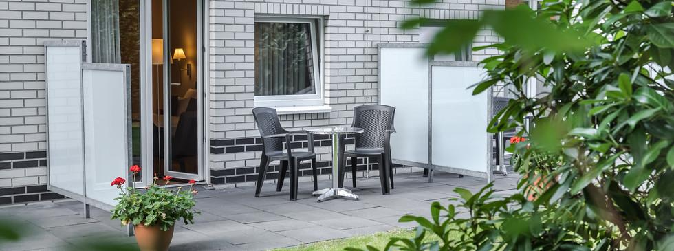 Terrasse der Comfort Plus Doppelzimmer